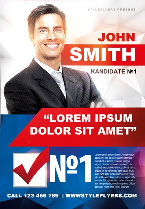 Political Campaign Free Flyer Template Download for