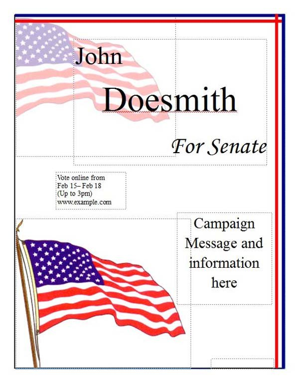 Campaign Poster Template Free Political Campaign Poster Template Microsoft Word Templates