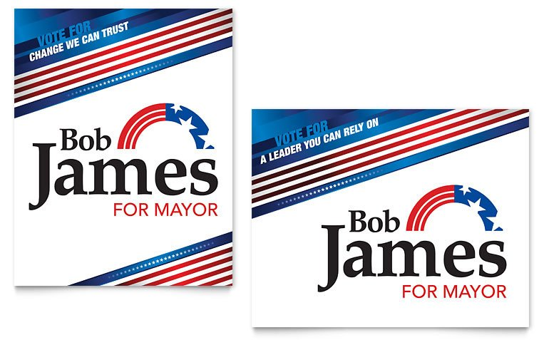 Campaign Poster Template Free Political Campaign Poster Template Word & Publisher