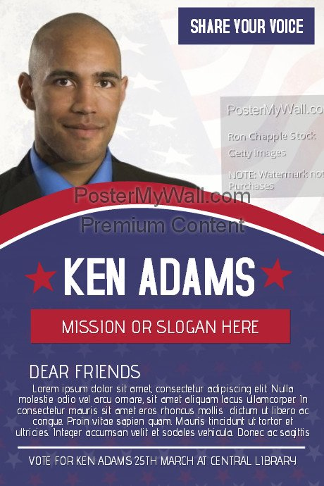 Campaign Poster Template Free Political Voting Campaign Flyer Template