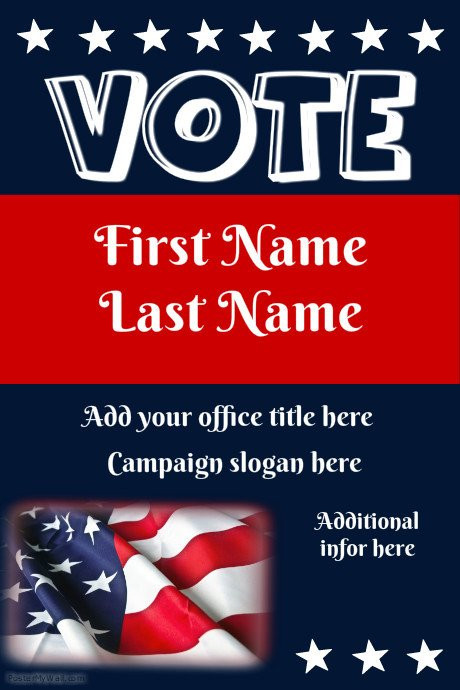 Campaign Poster Template Free Postermywall