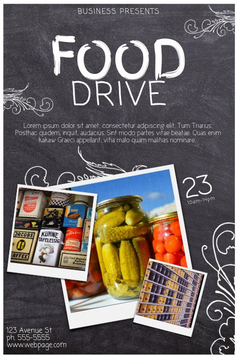 Copy of Food Drive Template