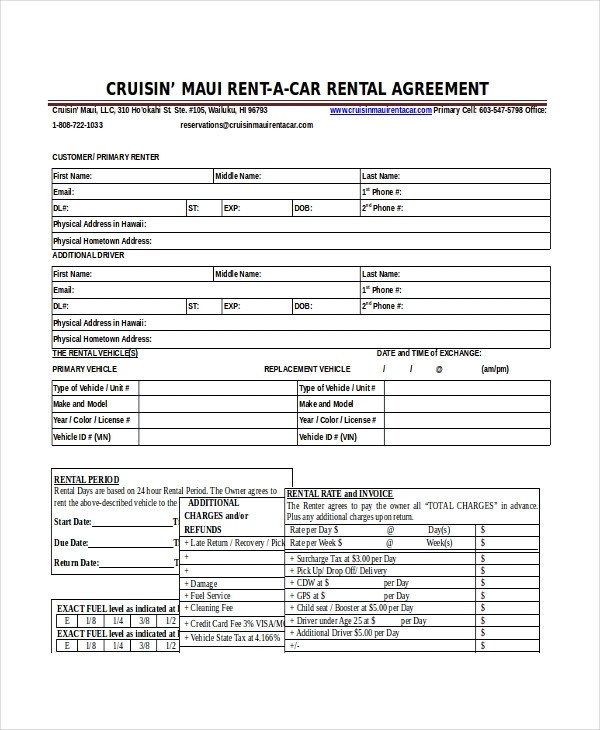 Car Rental Agreement Template 18 Car Rental Agreement Templates Free Word Pdf Apple