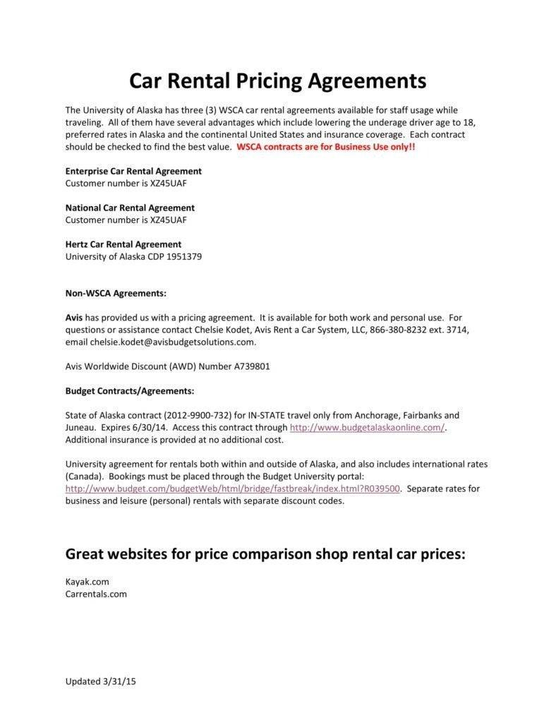 Car Rental Agreement Template 7 Personal Car Rental Agreement Templates Pdf Word