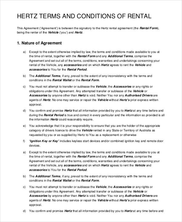 Car Rental Agreement Template Car Rental Agreement 12 Free Word Pdf Documents