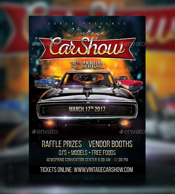 Car Show Flyer Template Free 19 Car Show Flyer Free & Premium Psd Ai Vector Eps