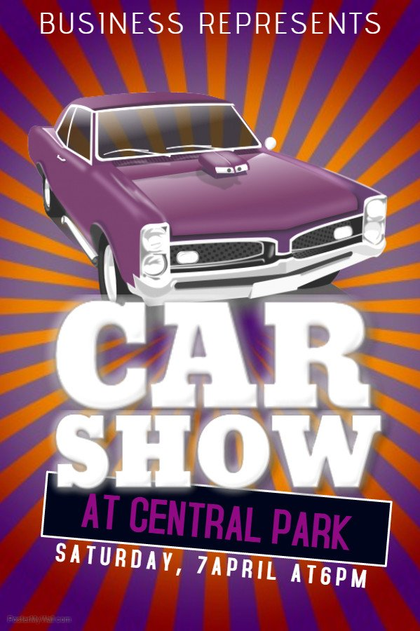 Car Show Flyer Template Free 25 Vintage Posters to Inspire Your Next Project