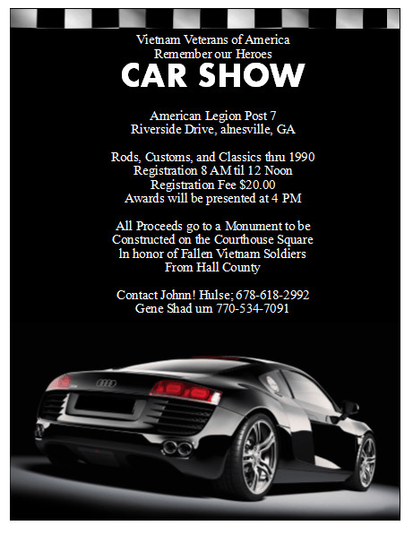 Car Show Flyer Template Free 5 Free Car Show Flyer Templates Excel Pdf formats
