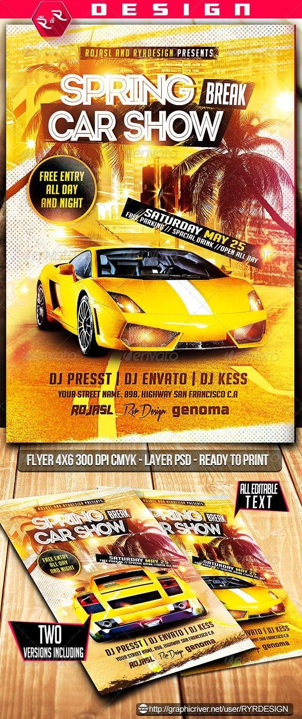 Car Show Flyer Template Free 9 Best Car Show Flyer Images On Pinterest