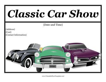 Car Show Flyer Template Free Car Show Flyer