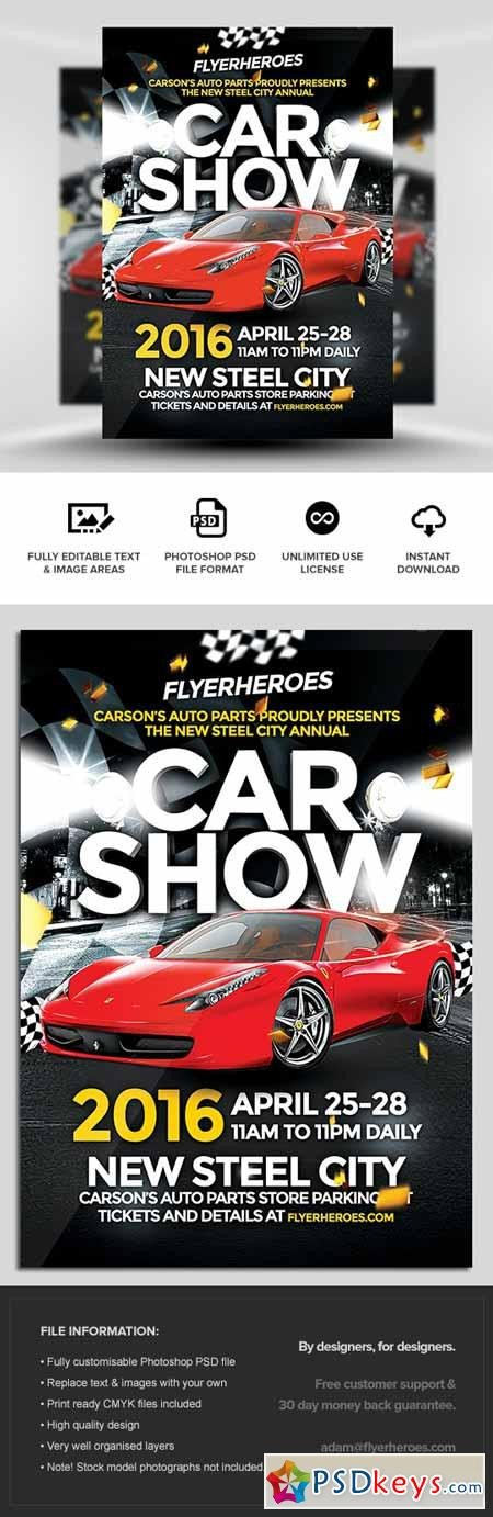 Car Show Flyer Template Free Car Show Flyer Template Free Download Shop Vector