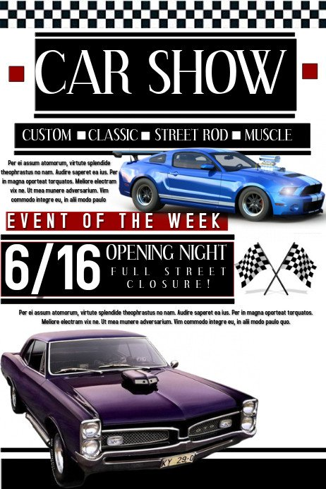 Car Show Flyer Template Free Car Show Template