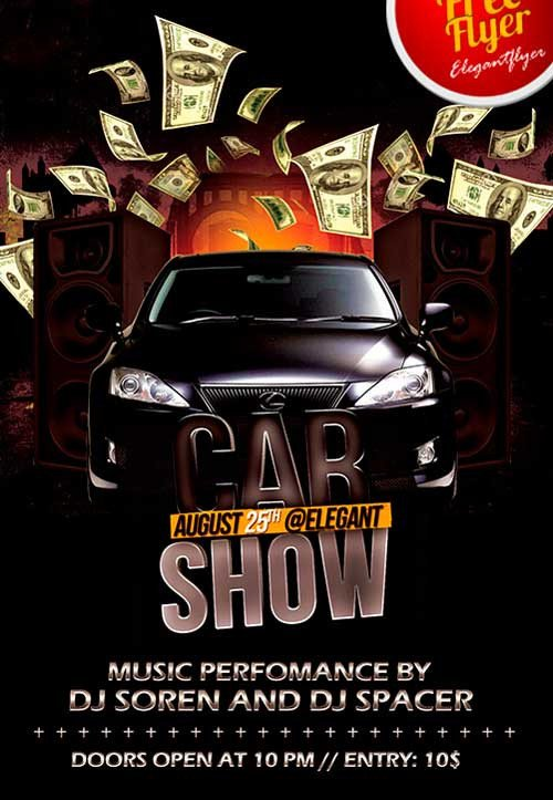 Car Show Flyer Template Free Download Free Car Show Party Psd Flyer Template