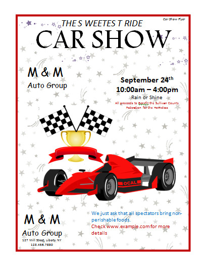 Car Show Flyer Template Free Flyer Templates Archives Microsoft Word Templates