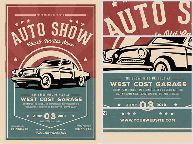 Car Show Flyer Template Free Old Classic Car Show Flyer Template Flyerheroes
