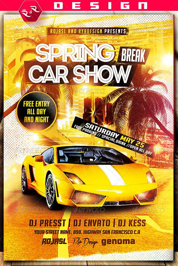 Car Show Flyer Template Free Spring Break Car Show Flyer On Behance