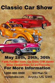 Car Show Flyer Template Free Vintage Poster Templates