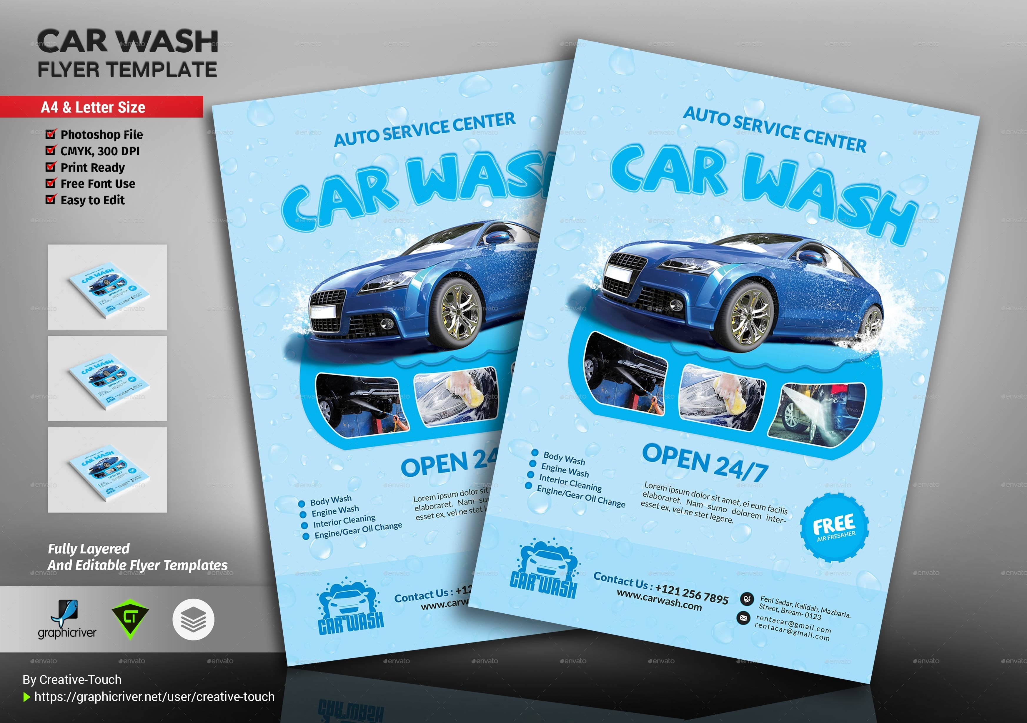 Car Wash Flyer Template Car Wash Flyer Template by Creative touch