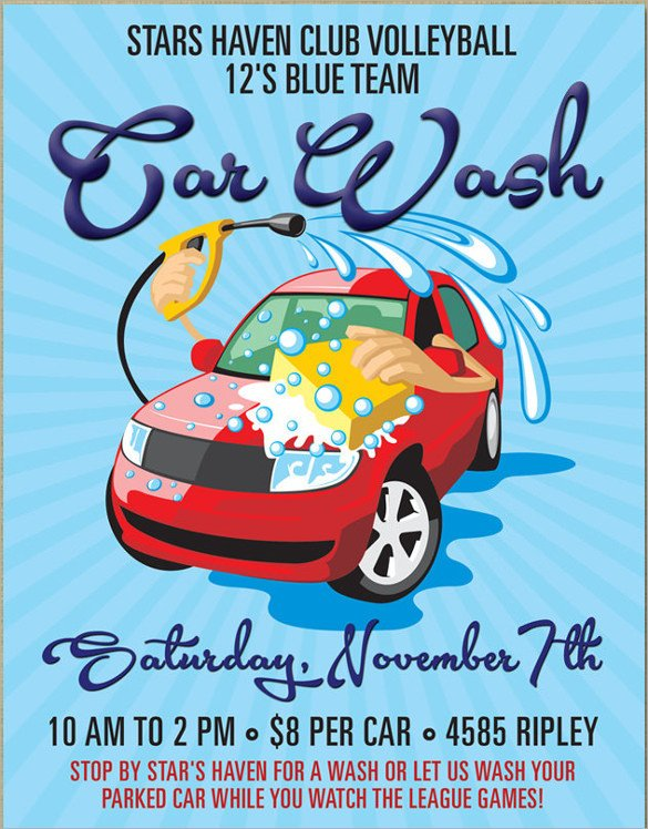 26 Car Wash Flyers PSD Word PSD AI EPS Vector