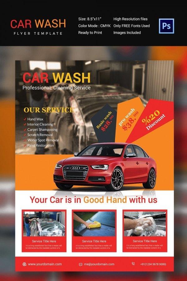 Car Wash Flyer Template Free Car Wash Flyer 48 Free Psd Eps Indesign format