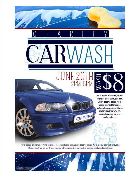 Car Wash Flyers Template 48 Fundraiser Flyer Templates Psd Eps Ai Word