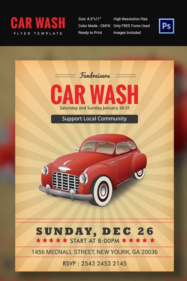 Car Wash Flyers Template Car Wash Flyer 48 Free Psd Eps Indesign format