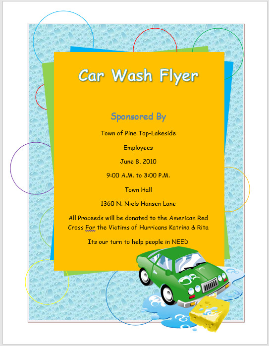 Car Wash Flyer Template – Microsoft Word Templates