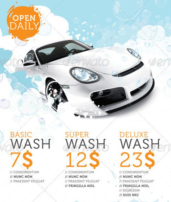 Car Wash Flyers Template Car Wash Flyers – 40 Free Psd Eps Indesign format