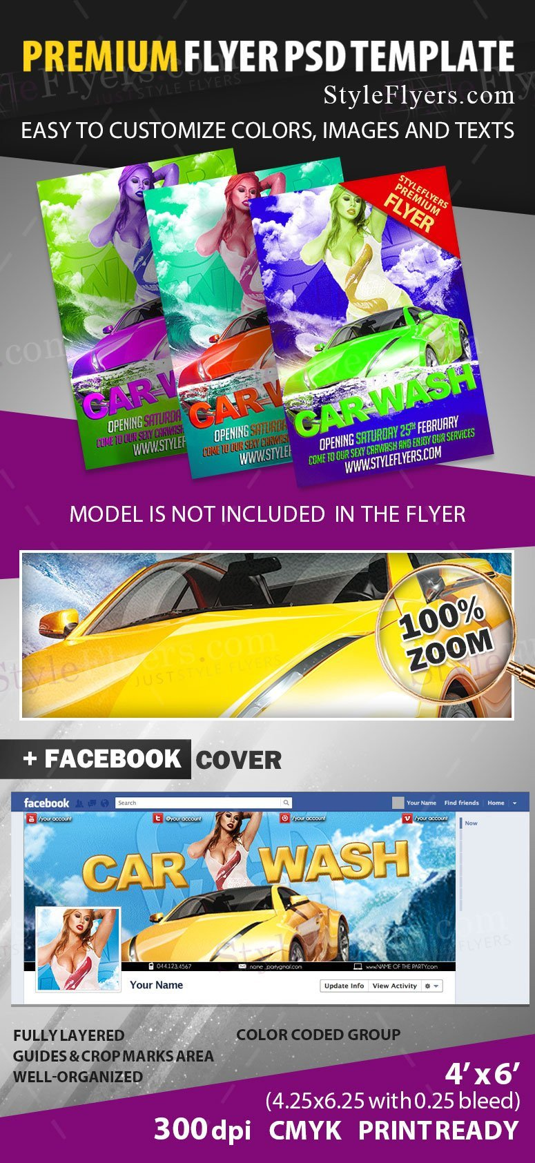Car Wash Flyers Template Car Wash Psd Flyer Template Styleflyers