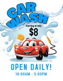 Car Wash Flyers Template Customize 300 Car Wash Flyer Templates
