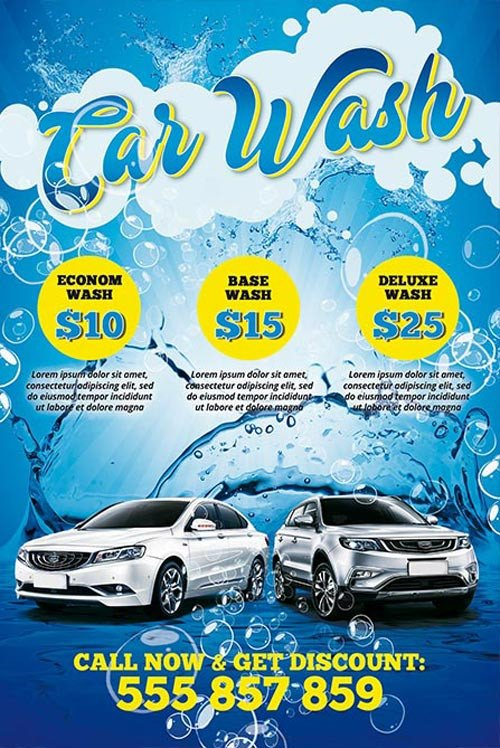 Car Wash Flyers Template Download the Car Wash Free Psd Poster Template