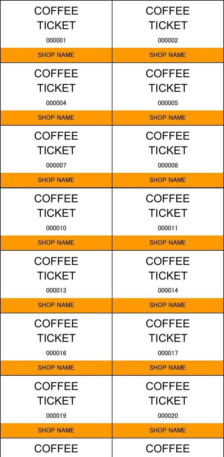 Car Wash Ticket Template Microsoft Word 81 Ticket Templates Free Download