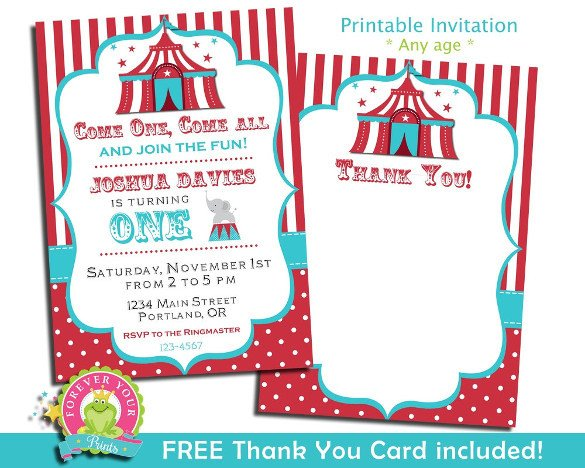 Carnival Invitation Template Free 27 Carnival Birthday Invitations Free Psd Vector Eps