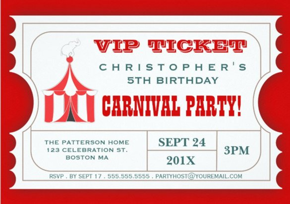 Carnival Invitation Template Free 49 Ticket Invitation Templates Psd Ai Word Pages