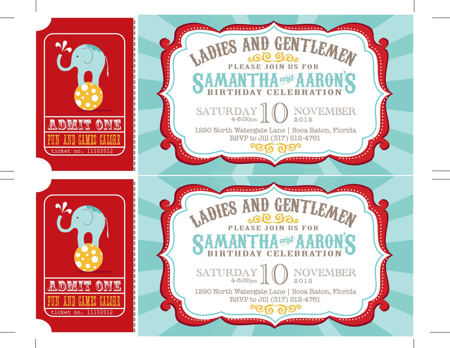 Carnival Invitation Template Free Reserved Carnival Invitations Circus Invitations Ticket