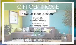 Carpet Cleaning Gift Certificate Template Interior Design and Furniture Gift Certificate Templates