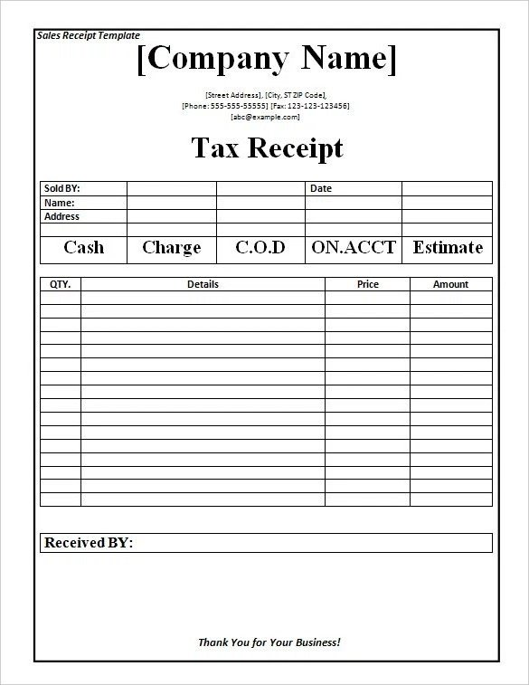 Cash Receipt Template Word Doc 18 Payment Receipt Templates – Free Sample Example