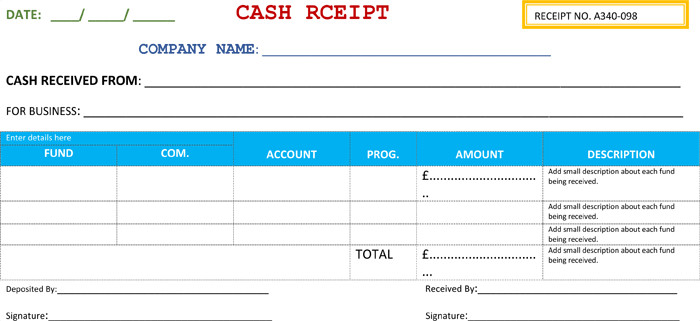 Cash Receipt Template Word Doc 21 Free Cash Receipt Templates for Word Excel and Pdf