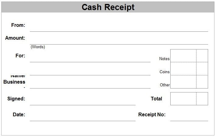 Cash Receipt Template Word Doc 6 Free Cash Receipt Templates Excel Pdf formats