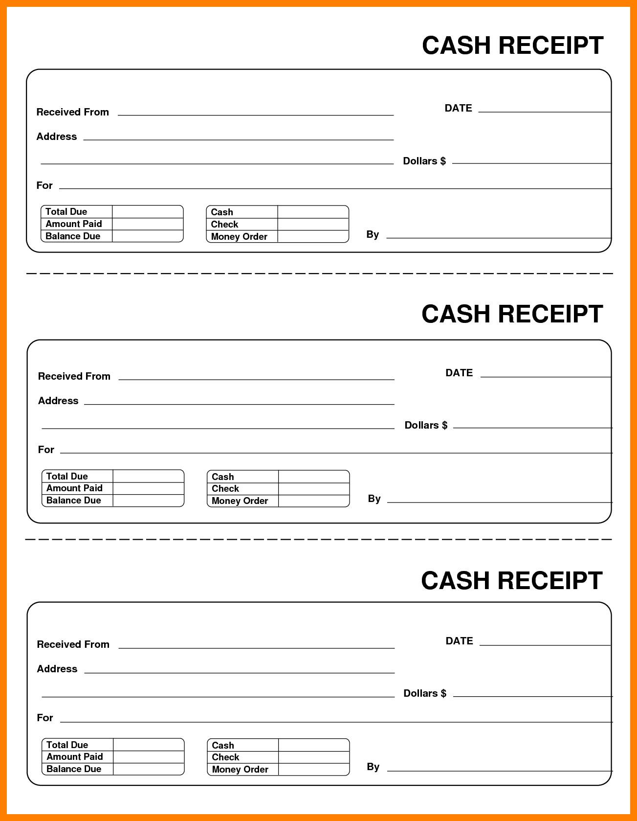 Cash Receipt Template Word Doc Cash Receipt Template Word Doc