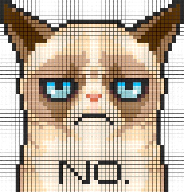 Cat Pixel Art Grid 17 Best Ideas About Minecraft Pixel Art On Pinterest