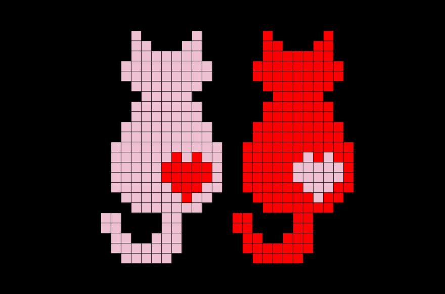 Cat Pixel Art Grid Cats Pixel Art – Brik