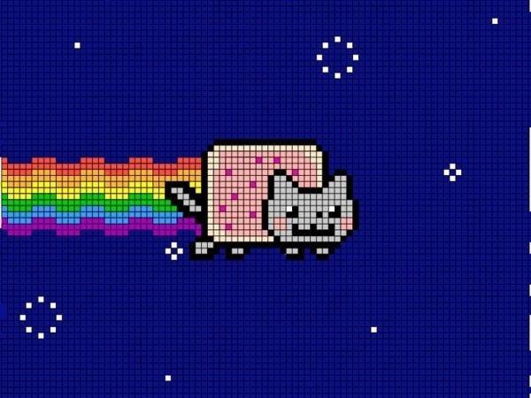 Cat Pixel Art Grid Pixel Art Minecraft Grid Nyan Cat Nyan Cat Pixel