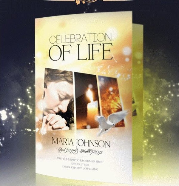 Celebration Of Life Program Template 24 Funeral Brochure Templates Free Psd Ai Eps format