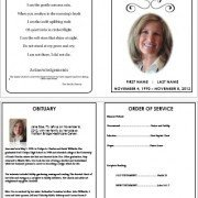 Celebration Of Life Program Template Celebration Of Life Funeral Pamphlets