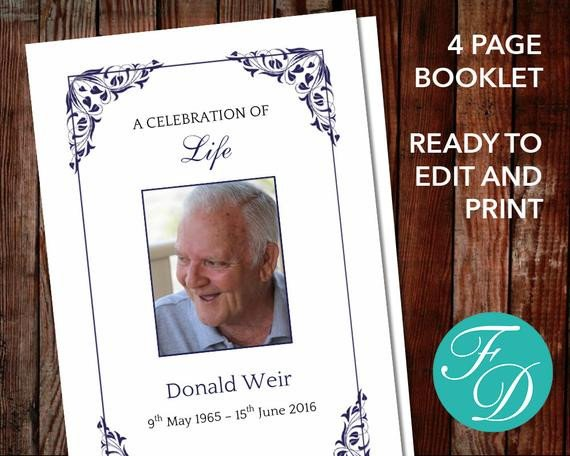 Celebration Of Life Program Template Funeral Program Template Celebration Of Life order Of