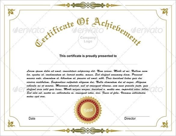 Certificate Of Achievement Word Template 36 Fabulous Achievement Certificate Templates Word Psd
