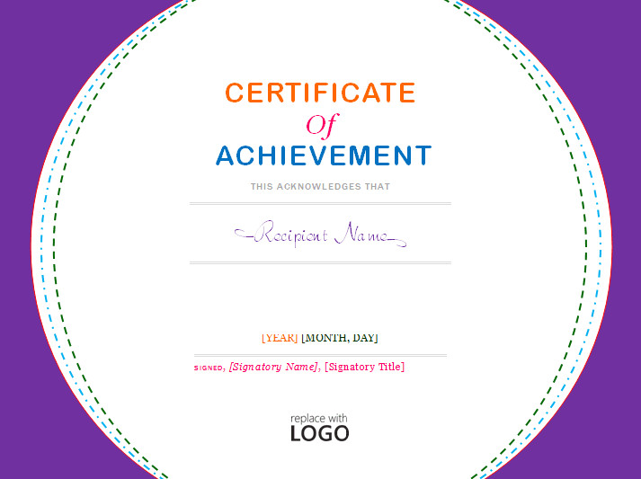 Certificate Of Achievement Word Template Certificate Of Achievement Template Microsoft Word Templates