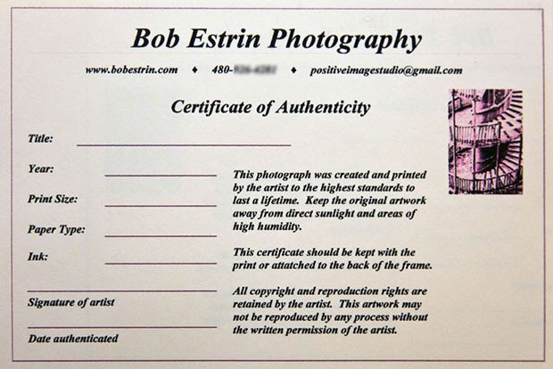 Certificate Of Authenticity Template How to Create A Certificate Authenticity for Your