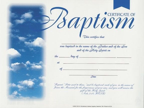 Certificate Of Baptism Template Free Baptismal Certificates Template Google Search
